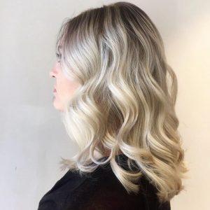 ice blonde hair colour at antonys hair salon in bury