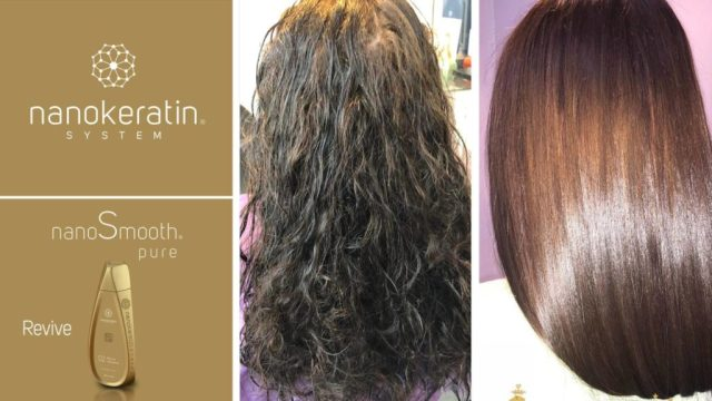 nanokeratin hair smoothing at antonys hair salon in Bury Greater Manchester