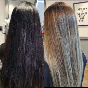 hair colour transformations at Antonys hair salon Bury