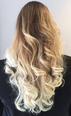 blonde balayage and face frame highlights at antonys hairdressers, Greater Manchester